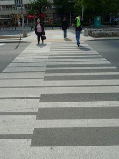 Piano Keys Cross Walk Street Art