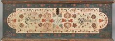 Lancaster County, Pennsylvania painted dower chest dated 1795