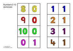 Numbers 0-10 dominoes (SB7673) - SparkleBox
