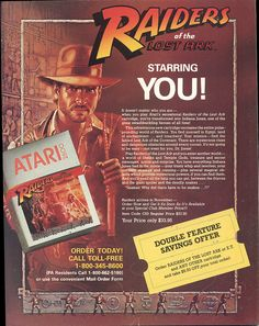 Ad for Raiders of the Lost Ark on the Atari 2600 (1982) by Paxton Holley, via Flickr