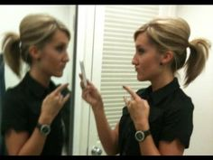 How to bump-up your ponytail w/out teasing or using a Bumpit. Finally! Get this girl a Nobel Peace Prize...she's my hero.