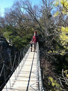 The Swinging Bridge at Rock City Gardens, Chattanooga, TN