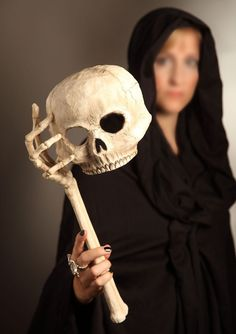 Skull Opera Mask with Skeleton Arm - Halloween Costume - Halloween decoration