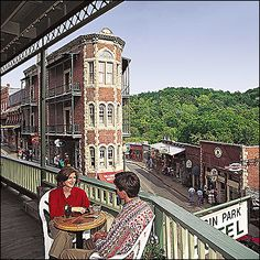 A view from the historic Basin Park Hotel in Eureka Springs #Arkansas