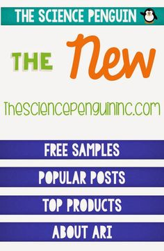 New Site: The Science Penguin Inc.-- Find free samples for science and popular blog posts!