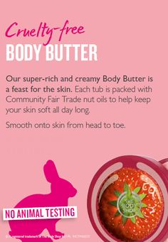 Smooth body butter onto skin from head to toe.