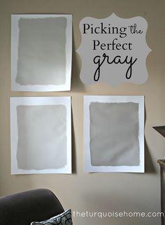 Picking the Perfect Gray {Paint}   via TheTurquoiseHome.com interior paint colors, paint colours, hous, gray paint, exterior paint colors