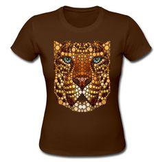 Leopard dot art painting Adult Unisex Gildan Unisex Adult Short Sleeves T-shirt