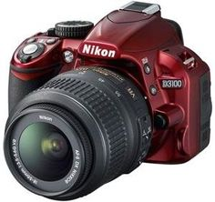 Nikon D3100 Digital SLR Camera  18-55mm G VR DX AF-S Zoom Lens (Red) for only $480.39