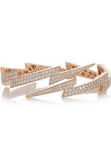 ANITA KO  Lightning Bolt 18-karat rose gold diamond bracelet