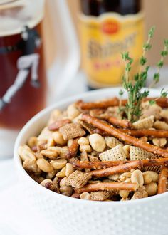 This looks like an easy, but delicious mix toffee nut snack mix recipe #EmerilsGameDay #Superbowl
