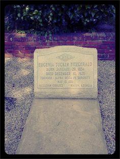 Eugenia Tucker Fitzgerald's grave, Rosehill Cemetery, Macon, Ga. alpha delta, delta pi, bucket lists