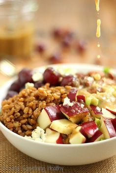 Wheat Berry Waldorf Salad|Craving Something Healthy