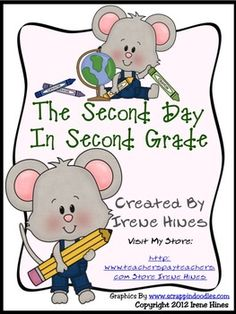 A BEST SELLER: Second Day In Second Grade Unit: A Back-To-School Packet For Second Grade.