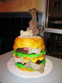 Dig the giant burger cake!
