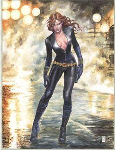 Black Widow by Milo Manara *