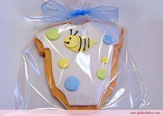 bumble bee baby onesie cookie