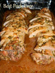 Garlic pork tenderloin- prob my favorite recipe so far, def best pork EVER! I marinaded for an hour before baking