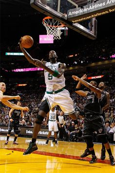 Kevin Garnett and the Boston Celtics knocked off the Heat in Miami on April 11, 2012 at AmericanAirlines Arena, 115-107. #iamaceltic #iamnotsouthbeach