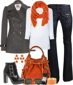 Orange for Fall....I Love this entire look