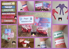 Valentine Fun Time: Treat Bag Toppers, Straw Toppers, Wristlets, Heart People for writing