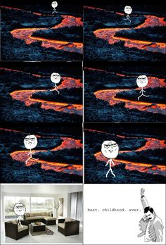 Lava floor as a kid