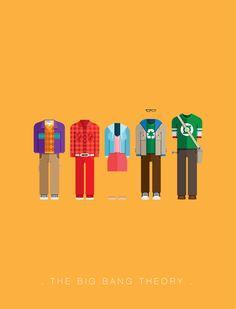 The Big Bang Theory by Frederico Birchal big bang, costumes, frederico birchal, chalkboard designs, bang theori, poster, tv seri, bangs, famous costum