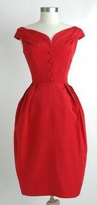 60's tulip cocktail dress