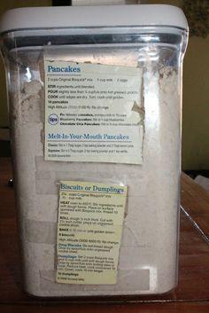 Make Your Own Bisquick Pancake Mix!