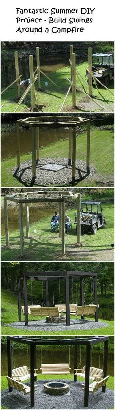 Some day!– Build Swings Around a Campfire