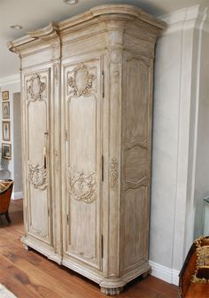 18th c. Large French Armoire | From a unique collection of antique and modern wardrobes and armoires at http://www.1stdibs.com/furniture/storage-case-pieces/wardrobes-armoires/