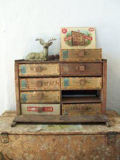 Cigar box cabinet