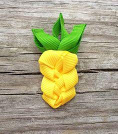 Pineapple Ribbon Sculpture Hair Clip - Toddler Hair Bows - Girls Hair Accessories... Free Shipping Promo