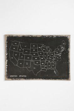 UrbanOutfitters.com > USA Wall Map