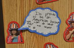 Great activity to talk about quotation marks.  Make with presidential election.