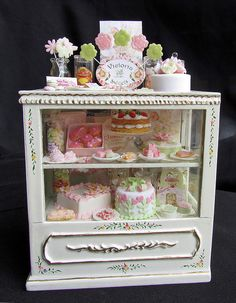 Victorian Style Dollhouse Bakery by goddess of chocolate, via Flickr