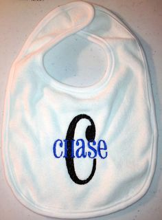 Custom Personalized Embroidered Monogram Initial by DarlingPeaches, $8.00