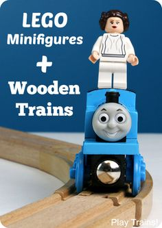Simple tricks for Lego minifigures to ride wooden trains without falling off -- from Play Trains!