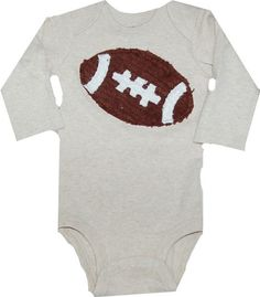 Chenille Football Onsie 3 months