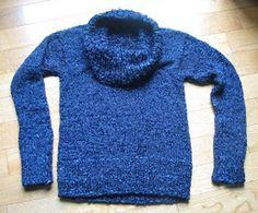 Chunky Cobalt Cowl Sweater