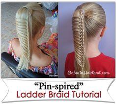 Ladder Braid from BabesInHairland.com #video #tutorial #ladderbraid #lacebraid #frenchbraid