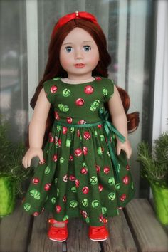 Christmas Dresses for American Girl Dolls are at www.harmonyclubdolls.com
