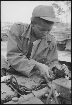 Fort Stewart, Georgia. Female Auto Mechanic by The U.S. National Archives