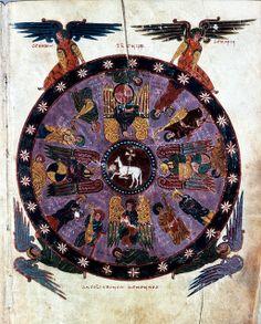 The Vision of the Lamb  - Maius' Morgana Beatus, Pierpont Morgan Library M644, fol. 87r