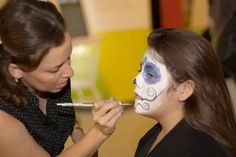 Face painting by Carmen Avila at the Museum's Day of the Dead party on October 25, 2013.