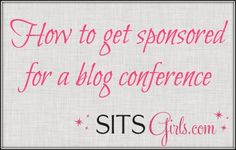 How to get sponsored for a conference