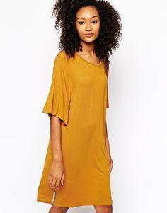 Image 1 of Monki Short Sleeve Swing Dress
