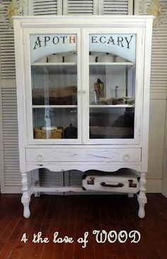 DIY 4 the love of wood: NOT JUST ANY WORD WILL DO - apothecary cabinet