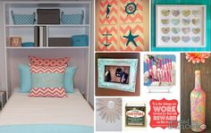 DIY Dorm Decor #chic #dorm #preppy #beachy #starfish #anchor #bottle #diy #chevron