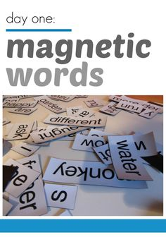 magnetic words -- we are HUUUUUGE magnetic poetry fans over here! Repinned by Apraxia Kids Learning. Come join us on Facebook at Apraxia Kids Learning Activities and Support- Parent Led Group.